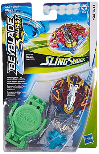 BEYBLADE Burst Turbo Slingshock Xcalius X4 Starter Pack -- Battling Top and Right/Left-Spin Launcher, Age 8+