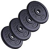 ScSPORTS 20 kg Hantelscheiben-Set, 4 x 5 kg, Gusseisen Gewichte, 30/31 mm Bohrung, geprüft und...