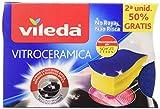 Vileda Duplo Lot de 4gratte-éponges pour la vitrocéramique