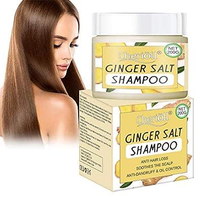 Hair Growth Shampoo, Ginger Scalp Care Shampoo, Dandruff Shampoo, Sea Salt Shampoo, Anti-Hair Loss, Extra Strength Hair Growth Treatment, Natural Hair Regrowth(200g)