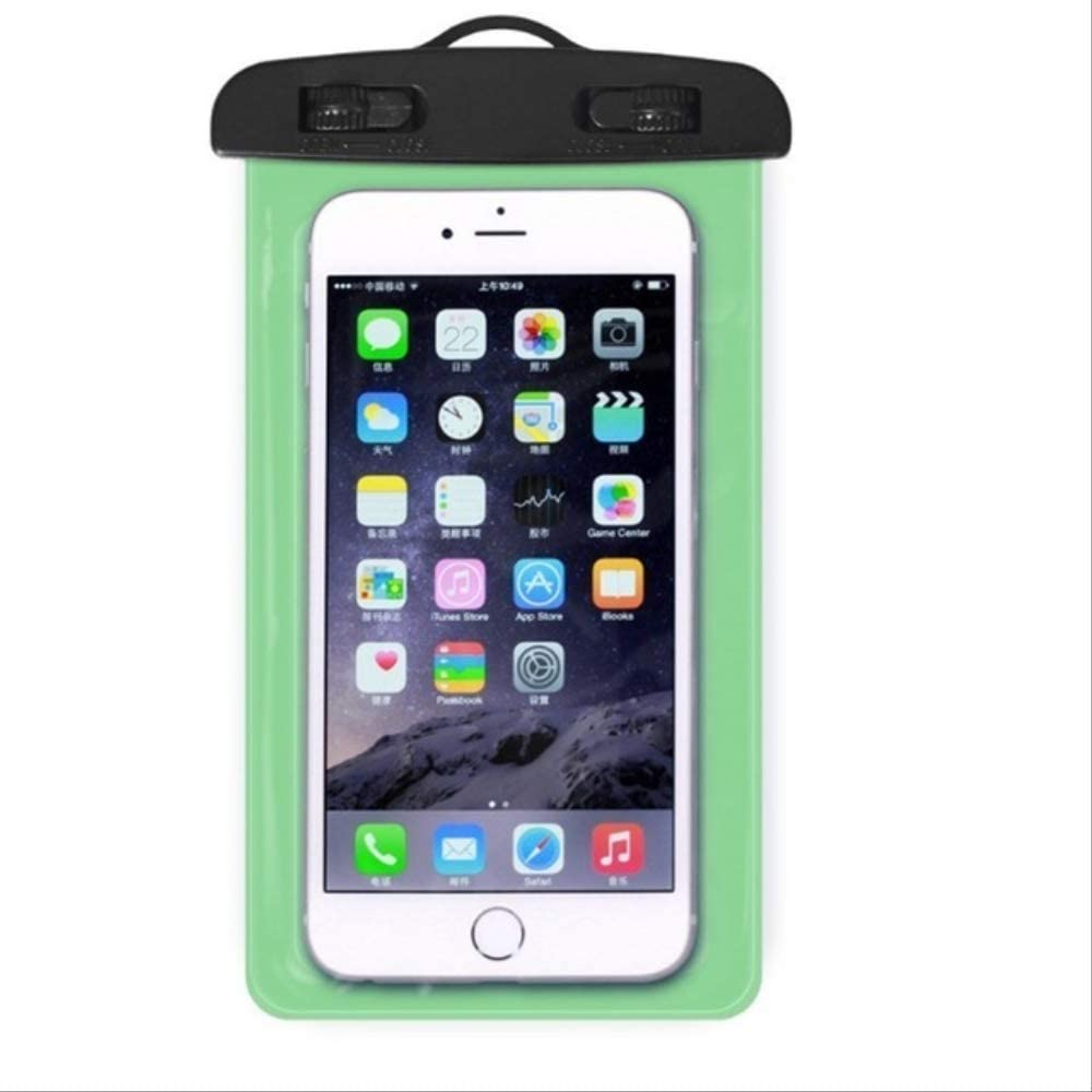Mobile Phone Waterproof Touch Screen Sealed Bag Universal Transparent Mobile Phone Dry Bag Waterproof PVC Mobile Phone Bag Swimming Diving Water Sports Mobile Phone Bag 105x175mm Green