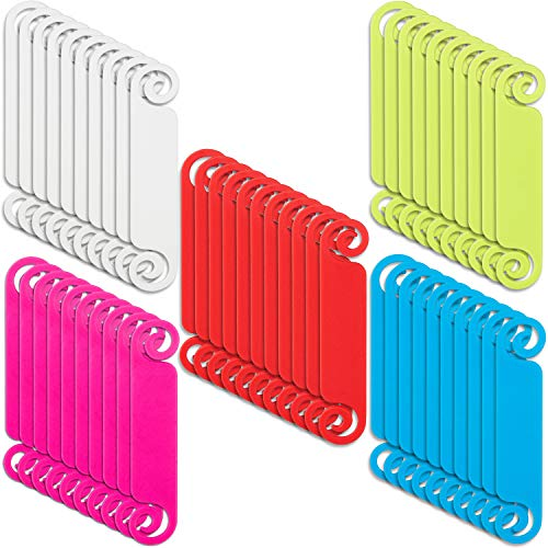 50 Pieces Cable Tags Cable Management Labels Multicolor Cable Labels Cord Identification Tags for USB Computer Phone Charger