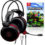 Audio-Technica ATH-AG1x Gaming Headset Bundle with Nintendo Minecraft