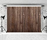 WOLADA 8X6FT Brown Wood Backdrop Vintage Wood Wall Photo Backdrop Wooden Board Photography Background Studio Props 11838