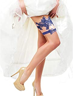 Deloito Deloito Sexy Spitze Hochzeit Strumpfbänder für die Braut Party Abschlussball Strumpfgürtel 2 Stück Beine Dekorativ Elastische Oberschenkel Band