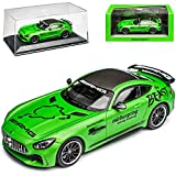 Mercedes-Benz AMG GT R Coupe Grün The Beast Nürburgring Ringtaxi Ab 2014 1/43 Minichamps Maxichamps Modell Auto