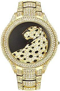 JINN-Women's Watches - Miss Fox Hot Leopard Watch Fashion Female Golden Clock Charms Full Diamond Brand Gold Watch Women W...