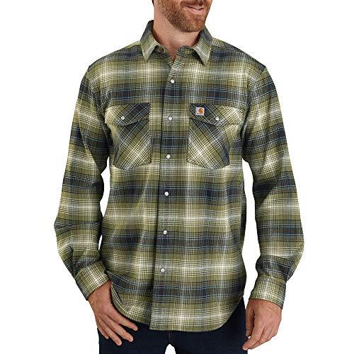 Carhartt Men's Big & Tall Long-Sleeve, Winter Moss, 2X-Large/Tall