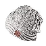 Bluetooth帽子 Tectri 音楽帽子 ニット帽 レディース 可愛いワイヤレスイヤホン内蔵帽子 厚手 耳隠れ 着脱式 USB充電 ハンズフリー スキーやスポーツに最適 プレゼント