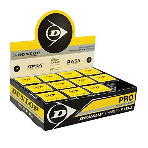 Dunlop Pro 12X1Bbx Bolas de Squash, Unisex