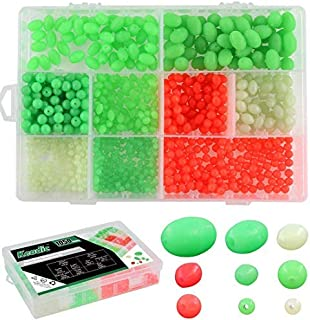 1500pc//Box Oval Floating Beads Sea Fishing Rig Lures Tackle Luminous Mixed Color