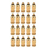 20 Pcs Brass Misting Nozzles High Pressure Atomizing Misting Sprayer Low Pressure Water Hose Nozzle for Greenhouse,Landscaping,Dust Control,Outdoor Cooling System,0.004' Orifice (0.1 mm),3/16 UNC