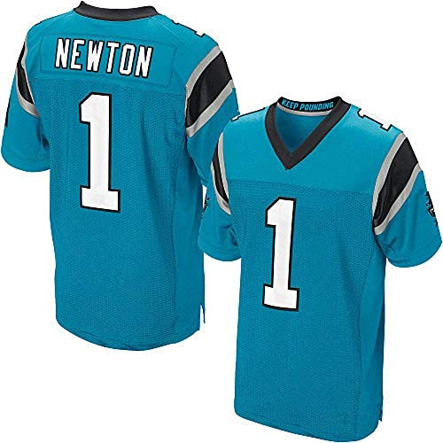 GJYJJKRY Herren NFL Jersey Football Wear Top Kurzarm 1 59 88 Fans Liebe Carolina Panthers Newton Elite Edition Gesticktes T-Shirt,D-XXXL