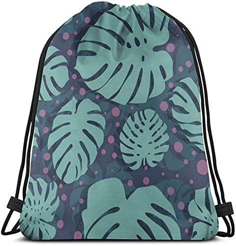 Bolsa de cordón con diseño de lunares Daun para hacer compras, viajes, deportes