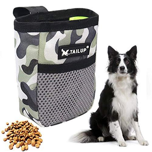 zhppac Bolsa Premios Perro Bolsa Adiestramiento Perros Tratar de Almacenamiento de Titular para Mascotas Bolsa Bolsa de Entrenamiento para Perros Gray