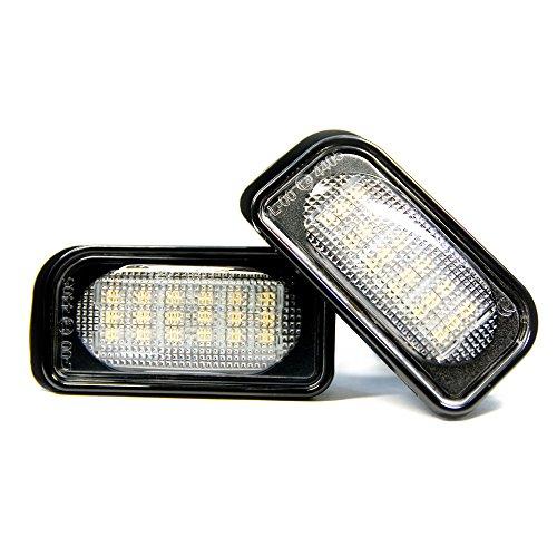 2 x LED Kennzeichenbeleuchtung Xenon 6000K Kennzeichen Leuchte Super Weiß