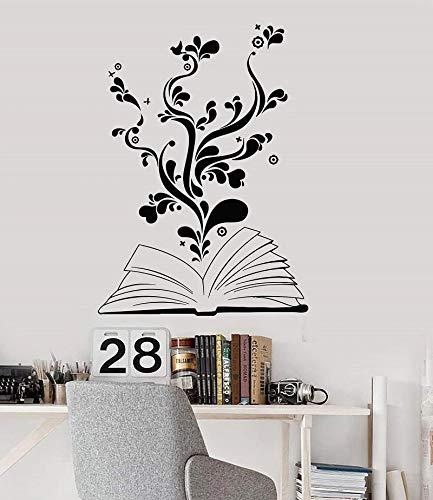 Árbol de la sabiduría etiqueta de la pared del vinilo biblioteca enseñar 3D etiqueta de la pared del vinilo creativo Mural decoración del arte
