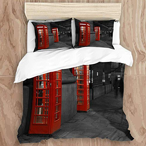 88888 printed duvet cover,phone london street,microfiber quilt cover(200x200cm),Pillowcase 50x80cm