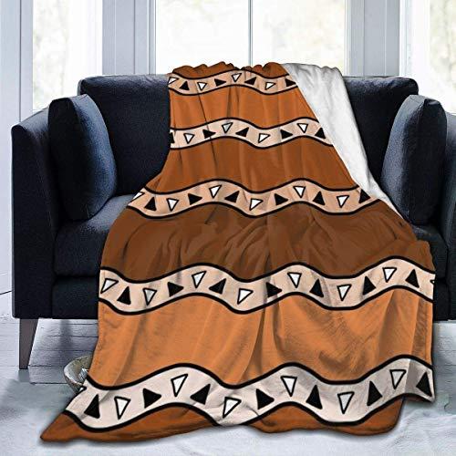 Manta de Felpa de Franela, Fondo de Estilo Africano, Fondo de Arte étnico sin Costuras, cálido y Acogedor, Todas Las Estaciones, para sofá Cama, sofá