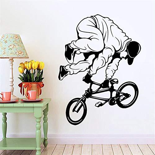 wZUN Etiqueta de la Pared de la Bicicleta Bike BMX Trick Extreme Sports Etiqueta de la Pared Etiqueta de Vinilo Decoración de Dormitorio 64X48cm