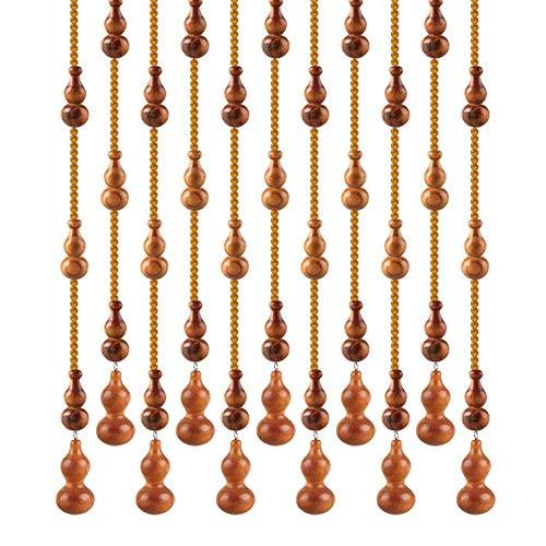 ZXL parels gordijnen roomdivider blind voor deur houten hangende snaren decoratie 21 strengen (kleur: B, grootte: 25 snaren 1.0x1.25m)