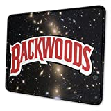 Backwood Logo Personalized Computer Mouse Pad with Non-Slip Rubber Base Premium-Textured Stitched Edges Mouse Pads for Computers Laptop Office & Home 8.3 X 10.3 in