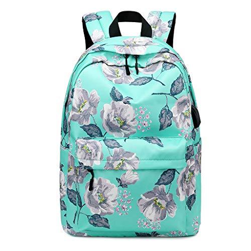 Zhenxinganghu bloemenrugzak nylon rugzak schooltas college laptop dagrugzak voor tieners modieuze rugzak