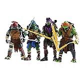 4pcs / Set Las Tortugas Ninja 2014 Película Versión Figuras De Acción 15cm Animado Estatuillas Colección Decoración Niños Y Regalo Muñecas De Juguete Ninja Turtles