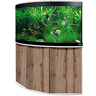 Aquariumkombination FLUVAL Venezia 190 L mit LED-Beleuchtung, Heizer, Filter und Unterschrank weiße Eiche