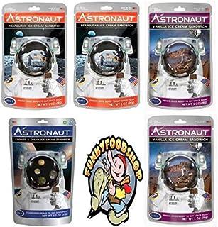 American Outdoor Products Astronaut Ice Cream Neapolitan, Vanilla, Cookies & Cream Freeze Dried Food Pack of 5