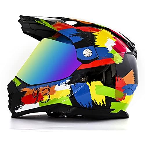 Casco integral de motocross Cascos de motocicleta todoterreno para adultos DOT Certified DH Motorbike Rally Backflip Casco para ATV MX MTB Dirt Bikes Mountain Pit Bike 6,XL