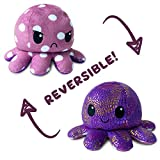 TeeTurtle | Reversible | Cute Mini Plushies | Polka Dot and Shimmer Octopus | Squish Often - Cuddle Daily | Show Your Mood with Emotion