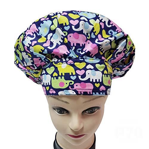 Casquillo hinchado del trabajo de la belleza del casquillo de la enfermera del casquillo del trabajo de impresión del casquillo de los hombres y de las mujeres,Banda elástica ajustable
