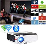 5000 Lumen High Brightness Projector WiFi Bluetooth, HD 1080P Supported HDMI Digital Smart TV Proyector,...