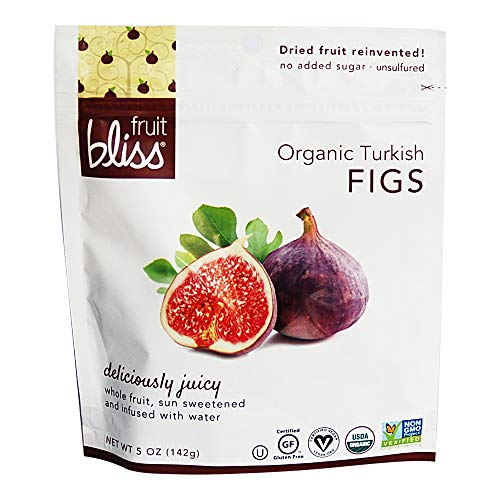 Organic Turkish Figs Dried Fruit Snacks, Sweet, Soft & Juicy Sun-Dried Figs – Healthy Snacks for On the Go – Organic Figs Treats are Non-GMO, Gluten-Free, Vegan Fig Snacks 5 oz. each