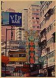 WHMQJQ Wandkunst Antikes Poster Wohlhabende Hong Kong Old