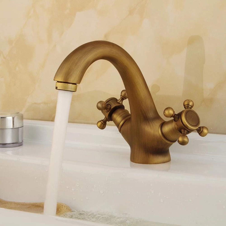 IFELGUD brass bronze double handle control faucet kitchen bathroom basin mixer tap
