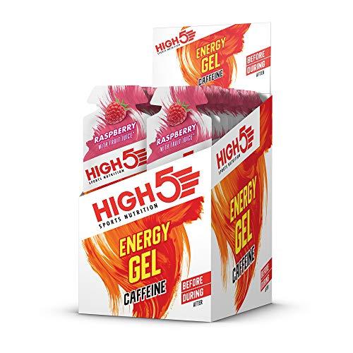 High 5 Energie Raspberry plus Koffein 40g x 20