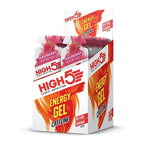 High 5 Energie Raspberry plus Koffein 40g x 20