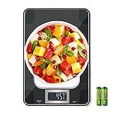 Báscula de Cocina, Escala de Cocina Digital de Alimentos con Capacidad Máxima de 15 KG,Peso de Cocina con Pantalla LCD, Sensibilidad de Medición de 1 gramo Altamente Precisa