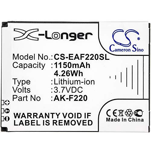 CS-EAF220SL Akku 1150mAh Kompatibel mit [TIPTEL] Ergophone 6060, [Emporia] F220, FLIP Basic, FLIPbasic Ersetzt AK-F220, SD474050A