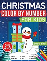 Christmas Color by Number for Kids: Coloring Activity for Ages 4 - 8