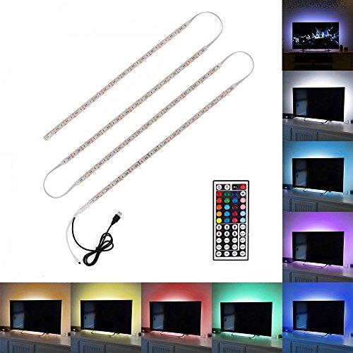 Minger USB Tira LED Luz 4*50cm 5050 RGB...