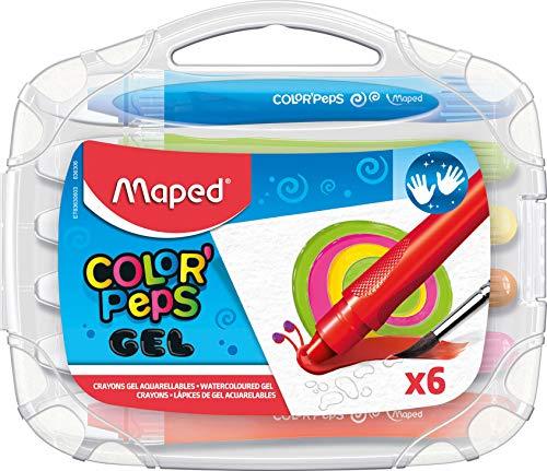 Giz Gel Aquarelável, Maped, Color Peps Macio, 6 Cores