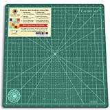 Calibre Art Rotating Self Healing Cutting Mat, Perfect for Quilting & Art Projects, 14x14 (13' Grid)