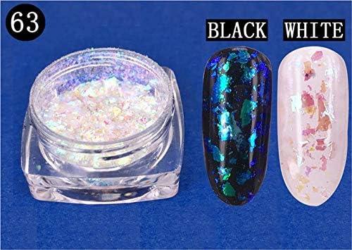 Gabcus 1 Box Nail Las Vegas Mall 0.2g Cloud Glitter Powder 25% OFF Flakes Irregular DIY