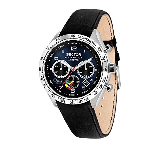 Sector No Limits Orologio Cronografo Solare Uomo con Cinturino in Pelle R3271613002