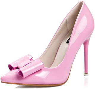 Ying-xinguang Shoes Fashion Bow Pointed High-Heeled Shoes Women's High-Heeled Comfortable