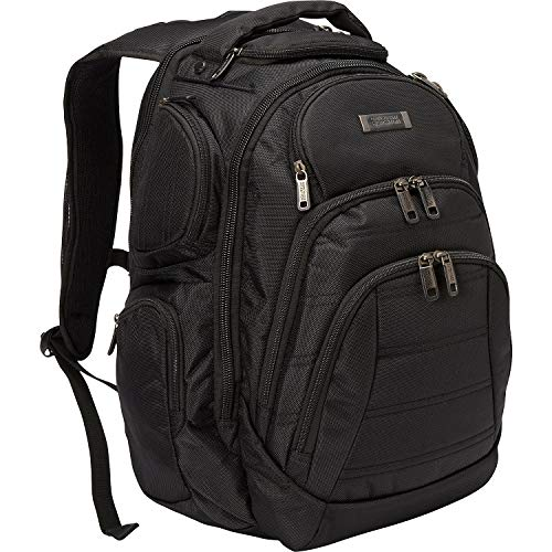 Price comparison product image Kenneth Cole Reaction Pack-of-All-Trades' Multi-Pocket 17.0 Laptop & Tablet Business Travel Backpack,  Black