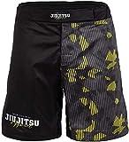 Tatami Fightwear Grappling Fight Hazard MMA Fitness Jiu Jitsu - Pantalones cortos de artes marciales para hombre, Hombre, haz-grp-shorts, gris/amarillo, small